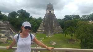 Gran Jaguar . Templo I (Vista desde el Templo II)